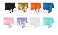 """Colorful 54"""" x 108"""" Rectangle Plastic Tablecloth for Party Table Cover Birthday"""