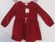 Hanna Andersson Dress  Sz 110 Size 5 Girls Red Corduroy Christmas Holiday  NWT