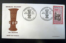 MADAGASCAR  AERIEN 96  PREMIER JOUR FDC     ART MALGACHE      100F      1964