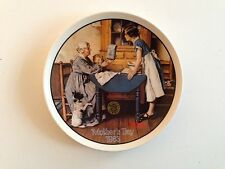 Add Two Cups Measure of Love Collector Plate 1983 Mother's Day Norman Rockwell