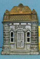 PRICE CUT * 1895/06 ORIGINAL OLD FOUR TOWER CAST IRON TOY BANK BUILDING * CI 778