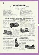 Buffalo Forge Company 1940's 1 Page Catalog Asbestos History Buffalo Pump