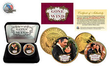 GONE WITH THE WIND 24K Gold USA Legal Tender 2-Coin Set*Officially Licensed*NEW