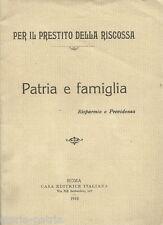 ECONOMIA_PRESTITO NAZIONALE_RISPARMIO_PREVIDENZA_INA ASSICURAZIONI_1918_D'EPOCA