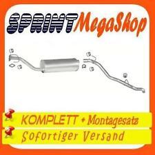 Auspuff Opel Frontera A 2.0 4x4 1992-1995 SWB 2330 3-Türen Auspuffanlage 0345