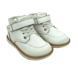 Stride Rite Boys Size 6M Quinn Sensory Response SRT White Leather Walking Shoes