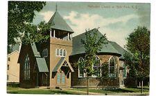 Hyde Park NY- METHODIST CHURCH IN VILLAGE -Postcard Dutchess County/Poughkeepsie