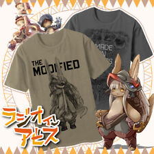 Anime Made in Abyss Cotton Casual Shirts Short Sleeve Tee Unisex T-shirt Cos