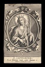 santino incisione 1600 S.CATERINA V.M. a. van merlen