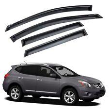 For 2008-2013 Nissan Rogue 4pcs Smoke Acrylic Window Sun Rain Visors Wind Guard (Fits: Nissan)