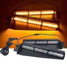 """29"""" 36 LED Amber Flash Emergency Strobe Visor Dash Sucker Split Deck Light Bar"""