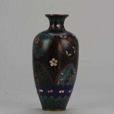 Antique Meiji Japanese Bronze Cloisonne Vase Japan