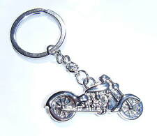 Chrome Motor Bike Keyring Motorcycle Key Chain Gift Boxed