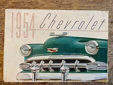 1954 Chevrolet Brochure Folder Bel Air Two-Ten One-Fifty Excellent Original 54