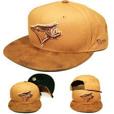 New Era Toronto Blue Jays Snapback Hat MLB Basic Tan Sueded Visor Cap