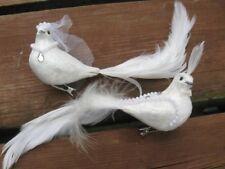 Fantaisie ivoire/blanc mariage colombe/mariage oiseau Set-Mariée & Marié-gâteau Toppers