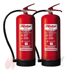 NEW TWO X 9 LITRE WATER FIRE EXTINGUISHER
