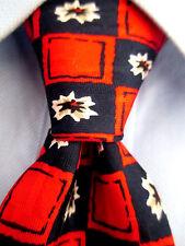 """Men's Robert Talbott Red Blue Silk Tie """" Flowers """" 21116"""