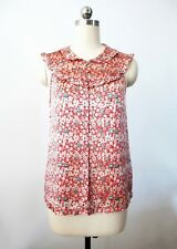 $400 New Authentic Marc Jacobs Silk Sleeveless Ruffle Babydoll Blouse Top 2 XS