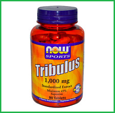 Tribulus 1000mg 90 Tablets by NOW Foods - 45% Saponins Extract, AU STOCK #68
