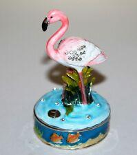 More details for flamingo trinket box / bird ornament gift *new*