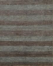 Contemporary Striped Gabbeh Oriental Area Rug Wool Handmade Modern Carpet 5x6