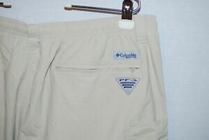 Columbia PFG Mens Convertible Pants Shorts Stone Omni-Shade XXL 2XL NWOT