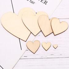 Nature Wooden Heart Slice Scrapbooking Wedding Party Decoration Graffiti Craf_UK