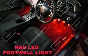 For Ford Fiesta MK7 MK7.5 2009-2017 RED LED Footwell Light Bulbs Upgrade
