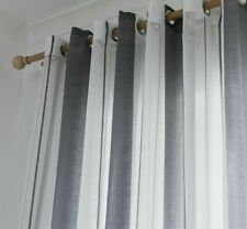 Ceiling Installation Curtains Voile Window Treatments Woven Striped Translucidus