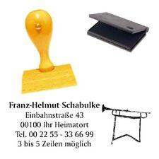 Adressenstempel « FANFARE » mit Kissen - Firmenstempel - Musiklehrer Trompete