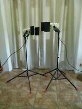 Vintage Smith-Victor Q60 Set of 2 Video Studio Lighting with Tripods Model S9
