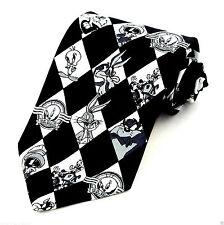 Looney Tunes Retro Mens Necktie Cartoon Neck Tie Tweety Taz Bugs Marvin Gift New