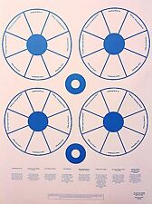 Paper Shooting Targets Gun Pistol Rifle 6 Pistol Tutor Circles Qty:25 23x35