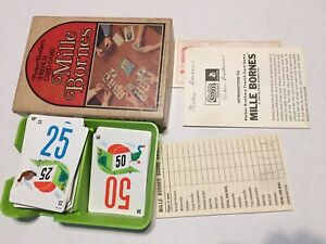 Mille Bornes French Card Game 1964 Parker Brothers 112 Cards Tray Scoresheet