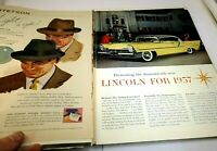 "Lincoln 1957 Magazine clippings advertisement Ad ""Finest in the fine car field"""