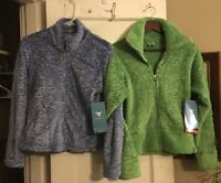 NWT InSport Faux Fur Jackets Small Periwinkle Blue or Medium Lime Green