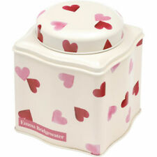 Emma Bridgewater Pink Hearts Tea Caddy Storage Tin Pretty Shape Gift