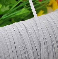 "10 Yards White color Braided Elastic 3/8"" (10mm) Elastics New!"