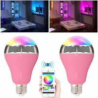 Wireless Bluetooth 4.0 Speaker Smart LED Bulb Music Player Night Light E27