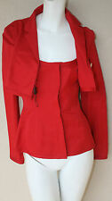 Narciso Rodriguez vibrant red form fitting cropped jacket 42 or 4 6 new