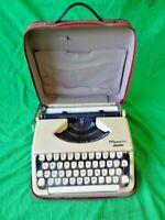 Vintage Olympia Portable Splendid Cream Typewriter Very Nice Shape Estate AS-IS!