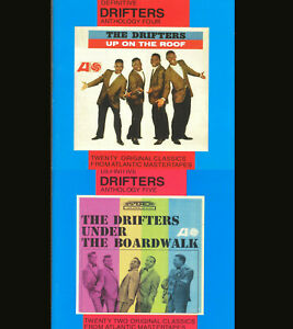 THE DRIFTERS ANTHOLOGY FOUR +FIVE UP ON THE ROOF UNDER THE BOARDWALK CD LOT OF 2