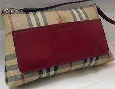 100%Authentic BURBERRY Haymarket Check Shoulder Bag Handbag Purse $595 US SELLER