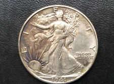 1941-D Liberty Walking Silver Half Dollar U.S. Coin A2253