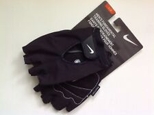 New Nike Men's Fundamental Training Gloves Medium Black Padded Microfiber