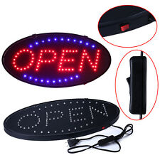 """S.Bright Led Neon Light 19x10""""Animated Motion Open Business Sign with On/Off Lw"""