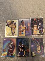 Eddie Jones Rookie Card Lot- Lakers- Inserts