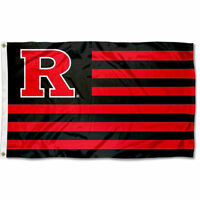 Rutgers University Scarlet Knights Stars and Stripes Nation USA Flag