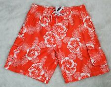 a2803c4baf Men's Ocean Pacific Lined Swim Suit/Swim Shorts Orange and White, Large (36